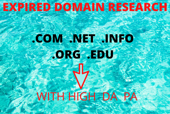 Find high metrics expired domain with 20+ DA PA.