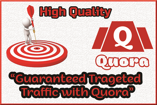will provide 40 HQ Quora answer with organic traffic.