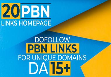 20+ Permanent PBN Backlinks Web2.0 With High TF CF DA 15+ PA Do-follow Links Homepage Unique website
