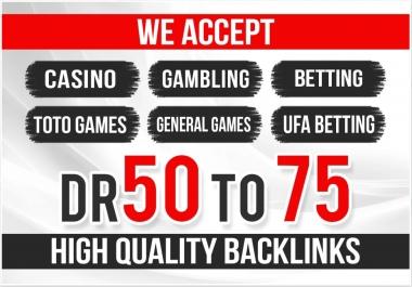 50 High Quality Homepage Backlink Casino,  Poker,  Gambling DA50+ PA 40+ 100 DOFOLLOW