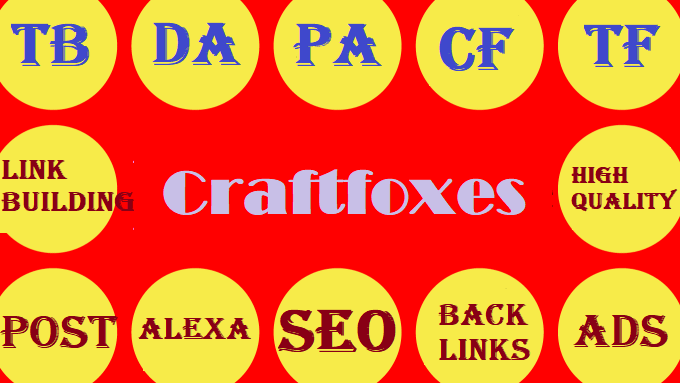 Write and publish a guest post on Craftfoxes. com with high quality DA51 backlinks