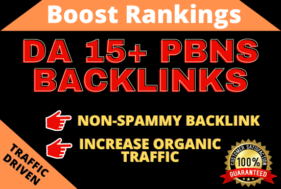 DA 15+ High quality PBN Backlinks for boost ranking
