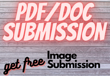 will do pdf and article submission to top 80 pdf sharing sites