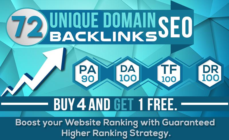 MANUALLY Do 72 UNIQUE PR10 SEO BackIinks on DA100 sites