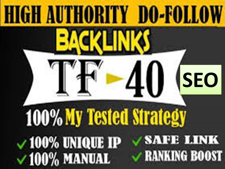 I will give 80 Top Ranking high tf cf permanent dofollow backlinks for SEO
