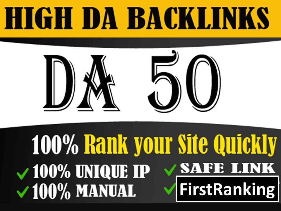 I will create 57 powerful high da dofollow backlinks for off page seo