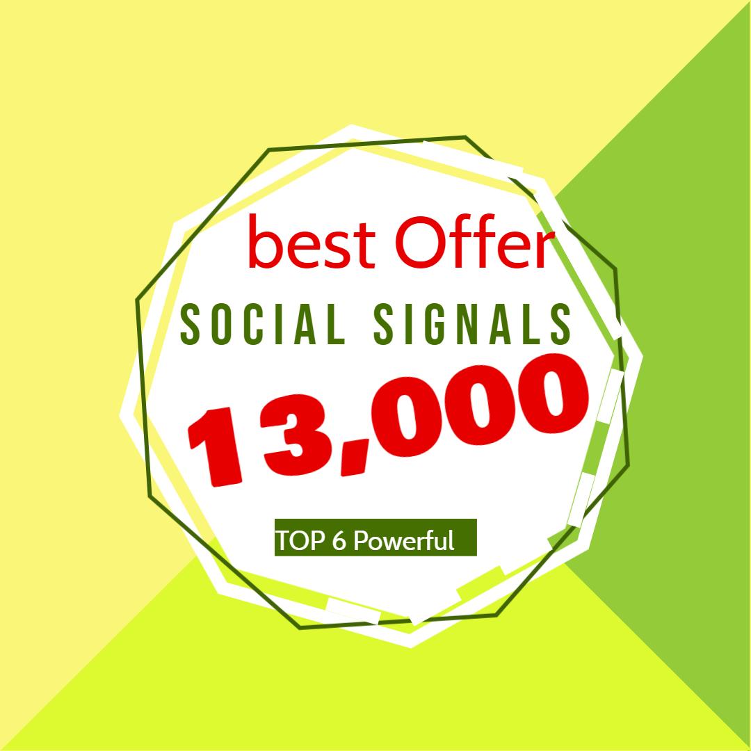 I will do manual 13,000 social signals from 6 social media sites