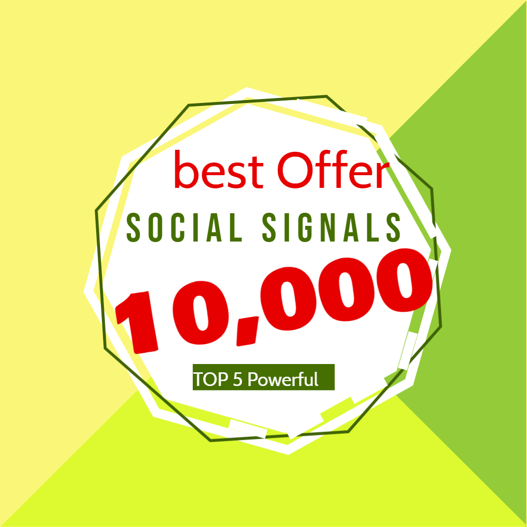 I will do manual 10,000 social signals from 5 social media sites