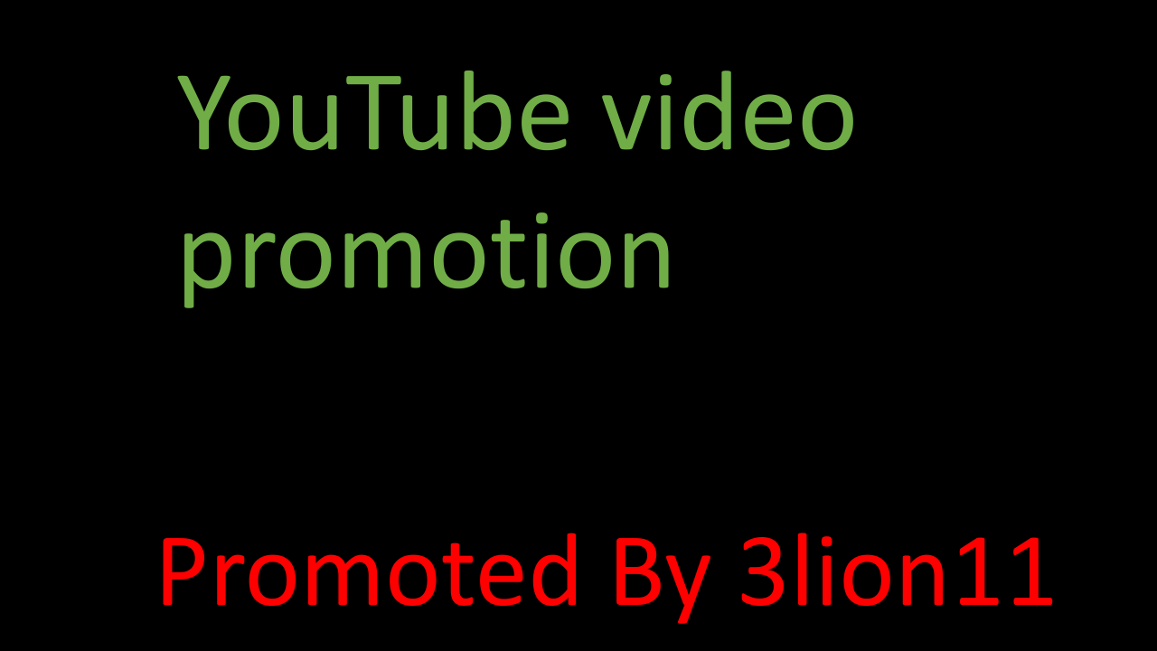 instant safe youtube account & video promotion by 3lion11
