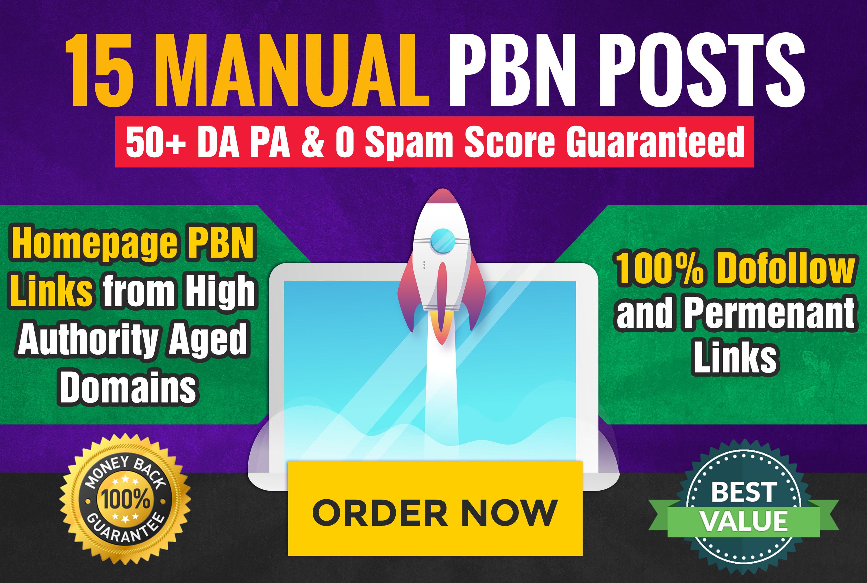 Powerful DA50+15 home page PBN do follow backlink