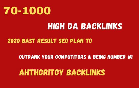 I will build 70-1000 high DA do-follow back-links