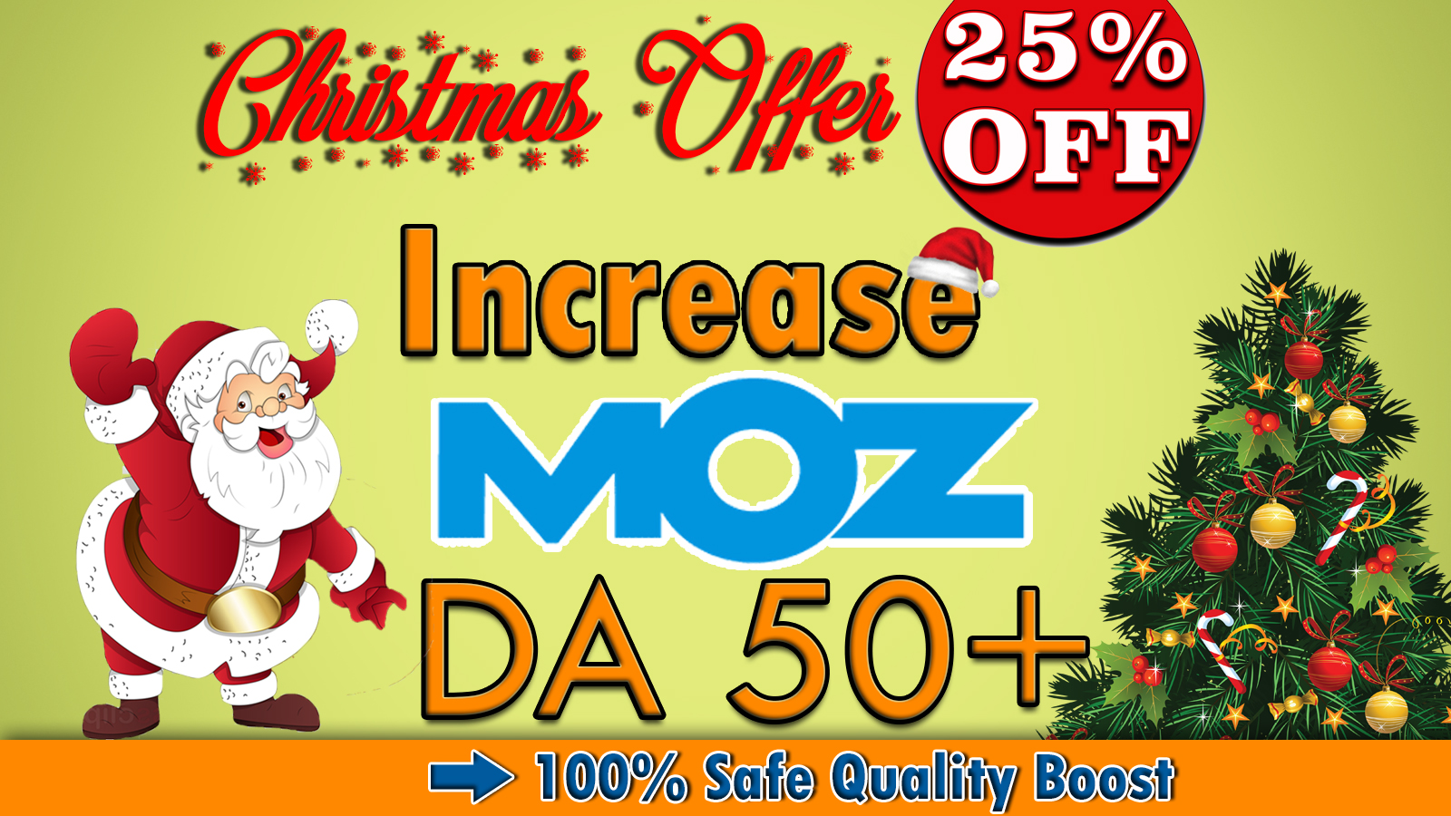 I will increase your domain authority,  MOZ DA 50 + Plus