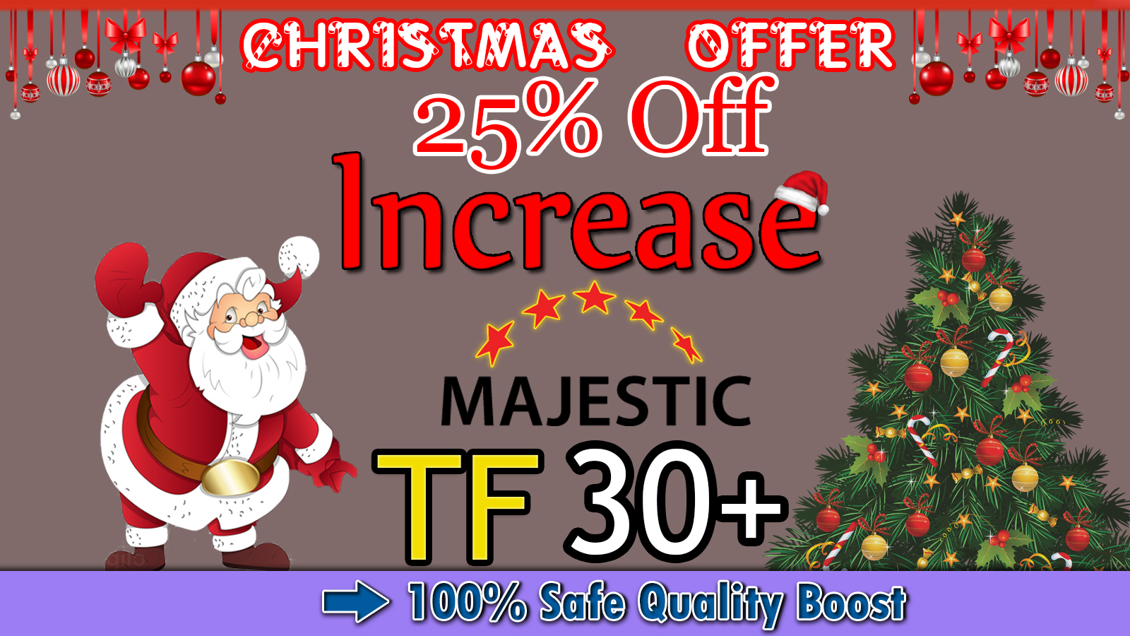 I will increase your website majestic trust flow tf 30 plus