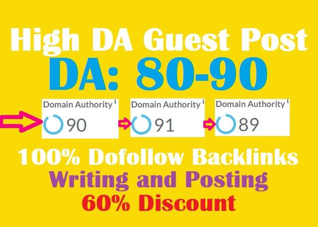 I will publish high da guest post dofollow backlinks