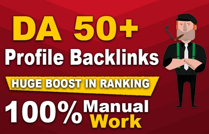 provide white hat manual dofollow profile SEO backlinks with high da