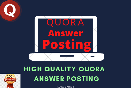 Promote your website with 3 high-quality Quora Answer Posting With your keyword and Url.
