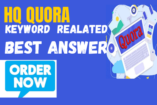 Niche relevant Link-building with 5 high-quality and unique Quora answer posting