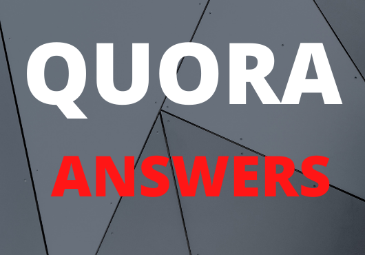 Offer 5 high quality Quora answers posting