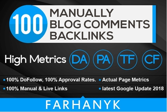 make 100 blog comments on your website to rocket your google ranking