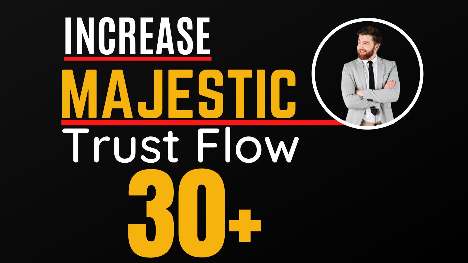 I will increase Majestic trust flow,  majestic tf 30plus guaranteed
