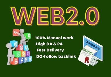 80 Web2.0 High authority Powerful backlinks high DA Do-follow link building permanent backlinks