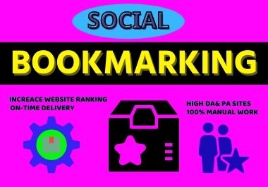 Manually create 25 social bookmarking backlinks & improve your website ranking