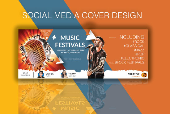 I will design stunning facebook,  twitter,  linkedin,  instagram,  youtube cover banner