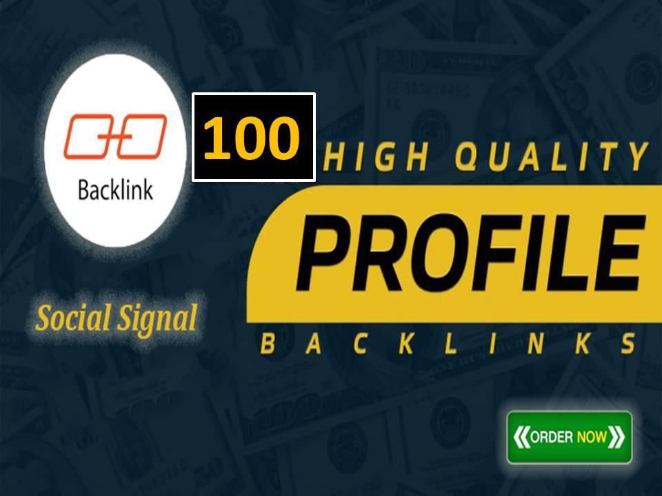 I will create 100 high quality profile seo link building for high da pr