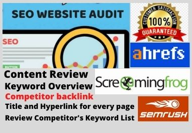 I will Provide Professional SEO Audit report for your Website