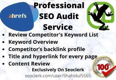 I Will Provide Professional Seo Audit Report And Analysis Website