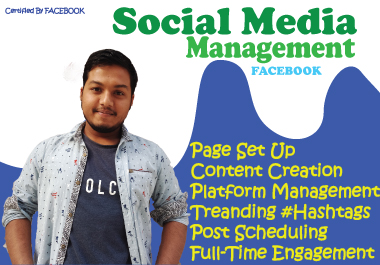 I will be your social media manager FACEBOOK