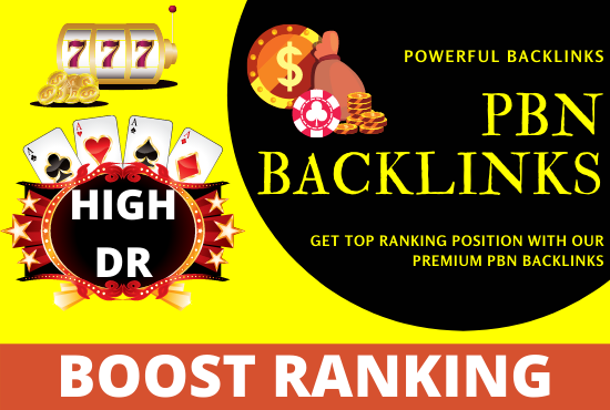 Get 60 powerful pbn backlinks for casino,  judi bola,  poker and gambling for ranking