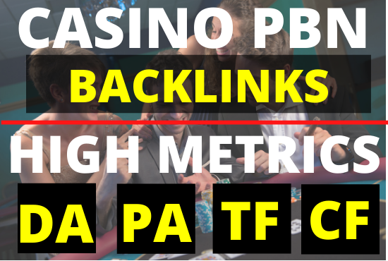 25 high da PBN Backlinks for Casino Poker Gambling Betting + Homepage Permanent links