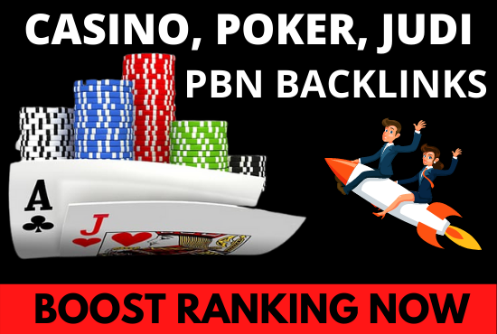 30 high DR 40+ PBN Backlinks for Poker,  Casino,  Gambling and Judi bola