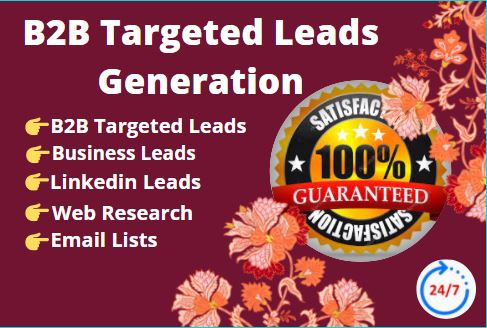 I will do B2B Targeted Lead Generation with Web Research