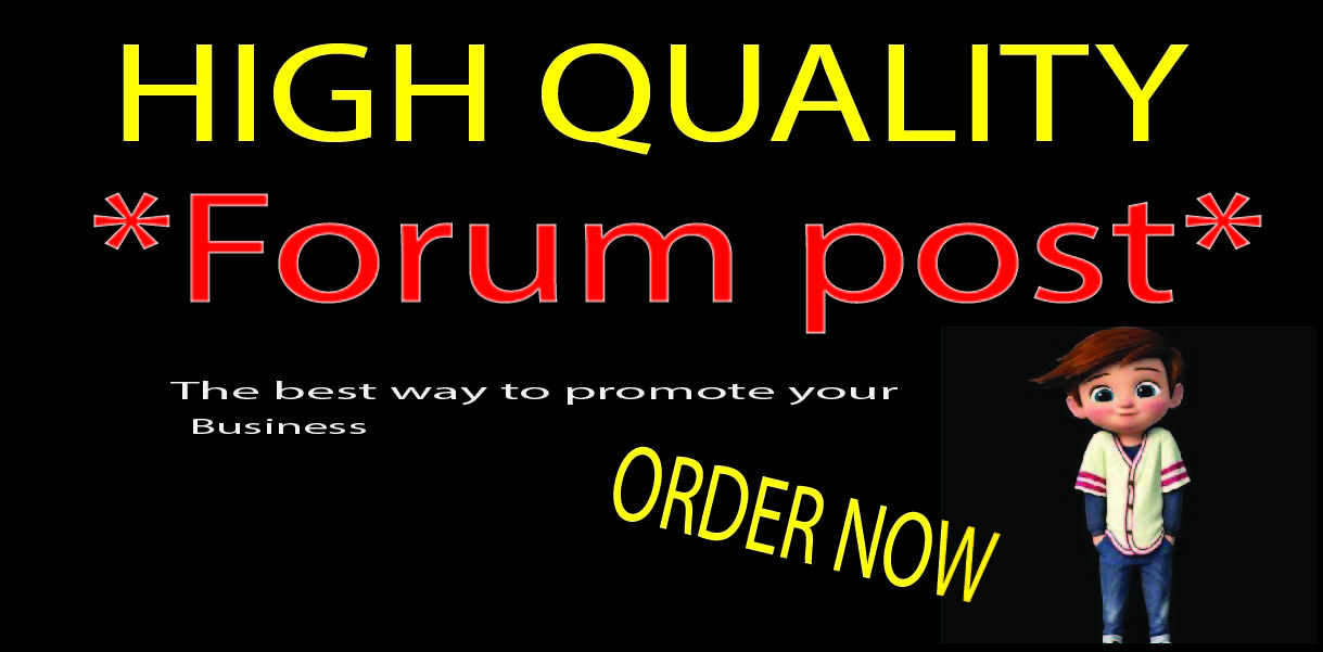 I will manually 40 forum posting on high-quality Website.