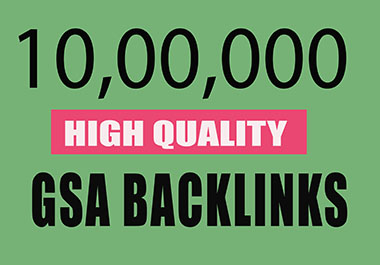 I will provide high quality GSA backlinks for SEO ranking