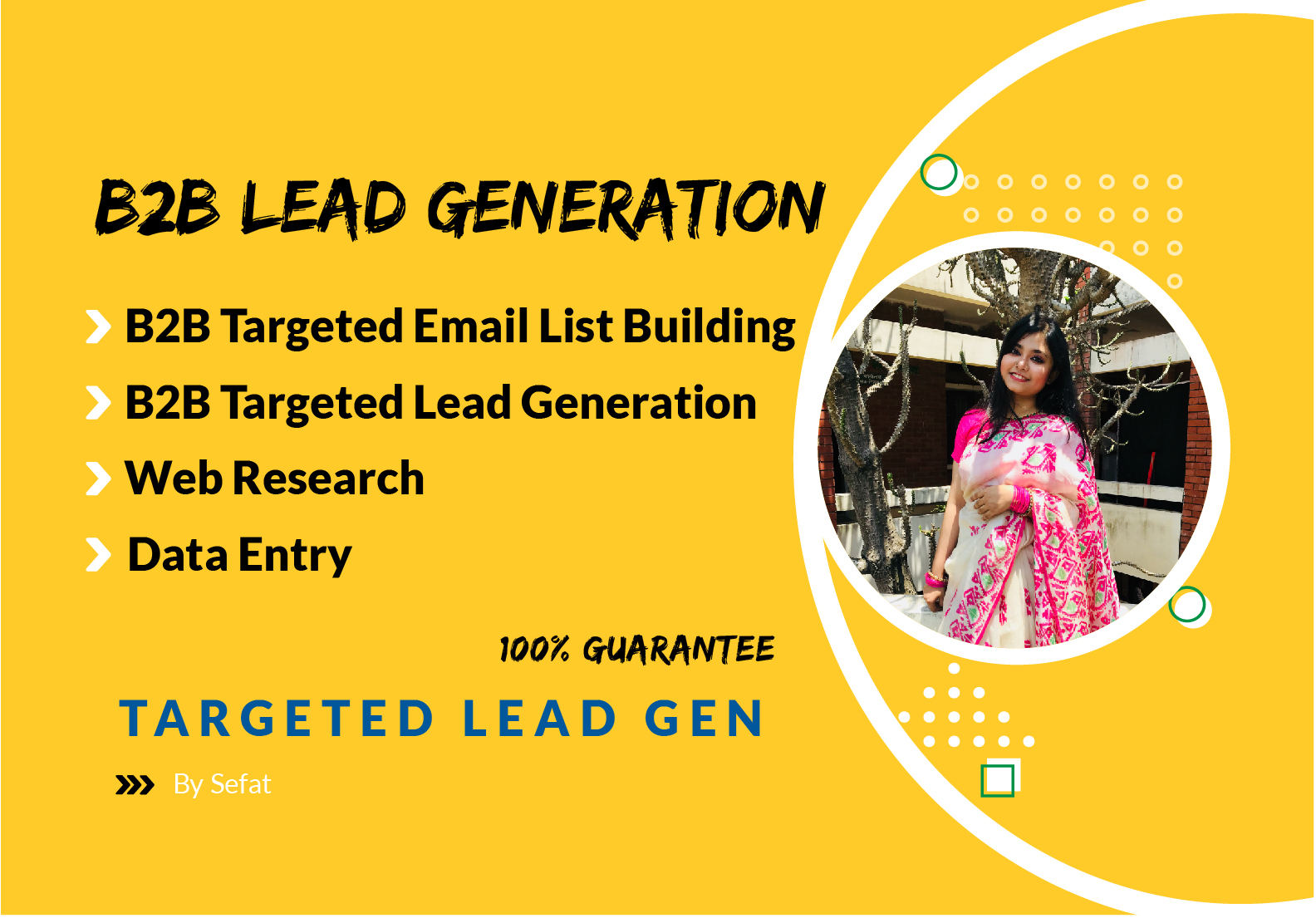 I will provide you 50 targeted b2b lead generation