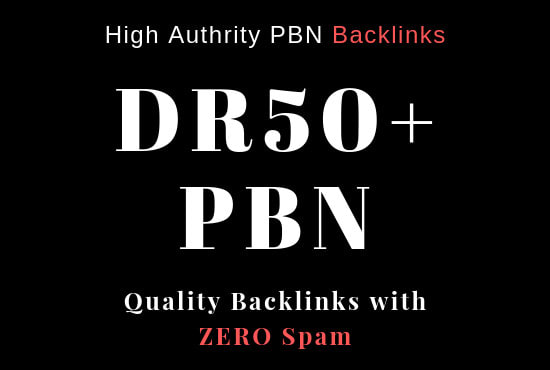 Create 6 DR 50+ UNIQUE HOMEPAGE PBN backIinks.