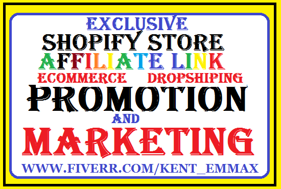 I will do affiliate promotion ecommerce marketing shopify marketing digistore USA Audience