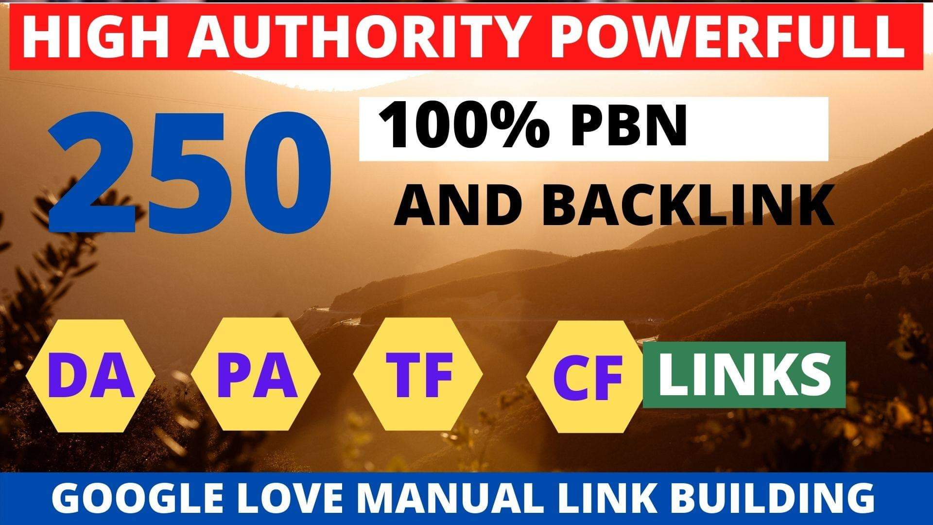 Get powerfull 250+ pbn backlink with high DA/PA/TF/CF on your homepage with unique website