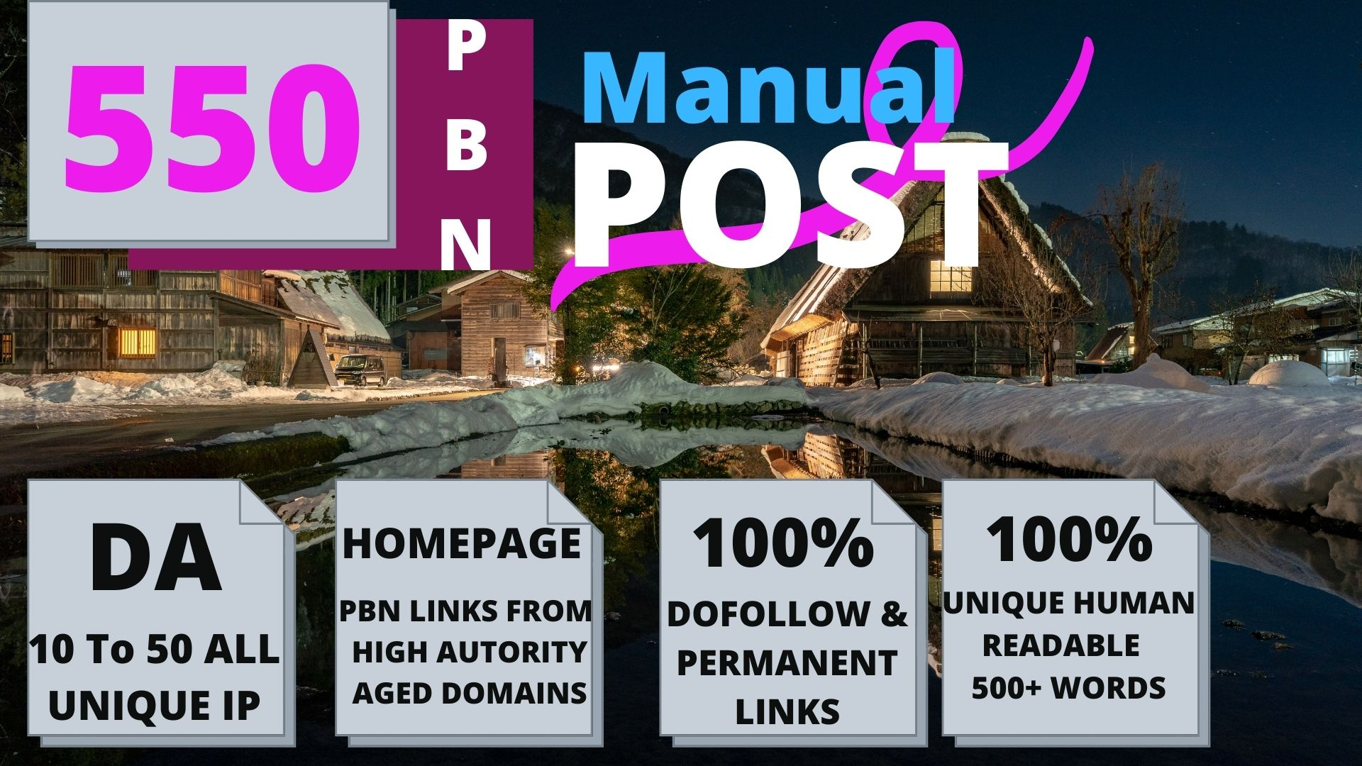 Permanent 550 powerful SEO, Backlink,PBN High-Quality Web2.0 Backlinks