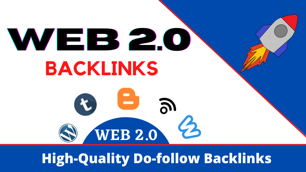 I will do your blog with 10 web 2.0 backlinks