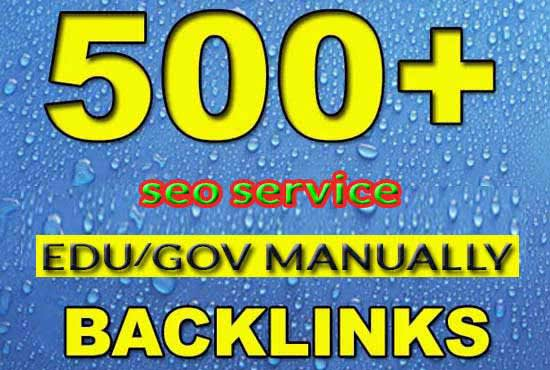 I will do Unique 500 EDU. Gov. Backlink Fast delivery