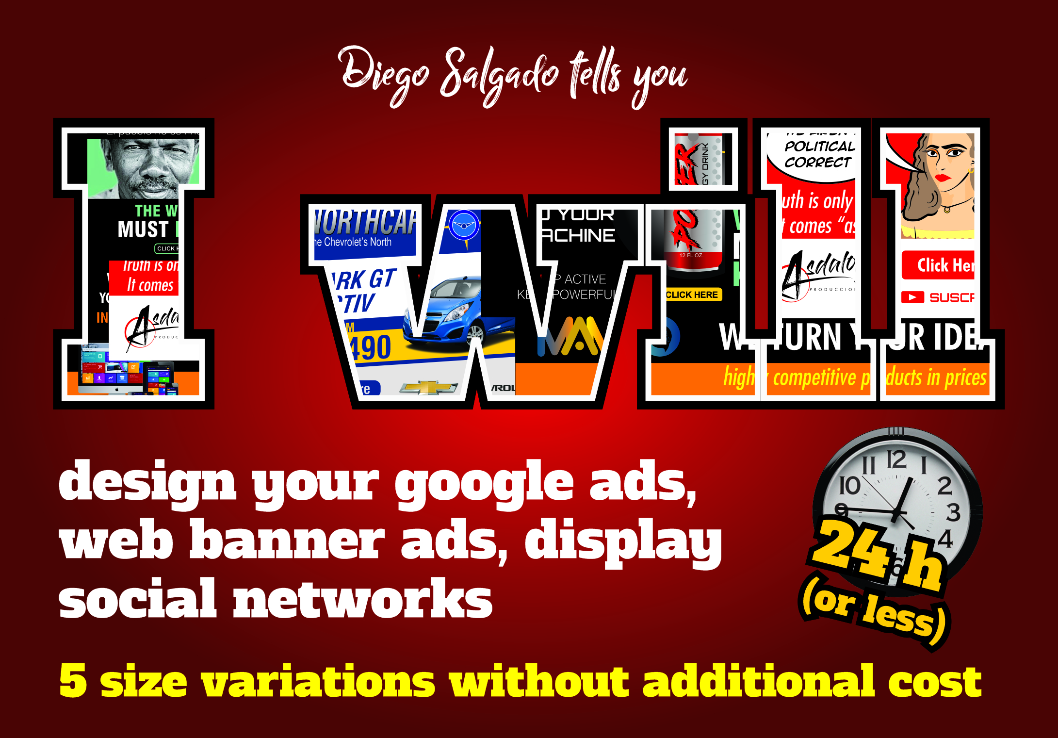 Design google ads,  web banner ads,  social networks