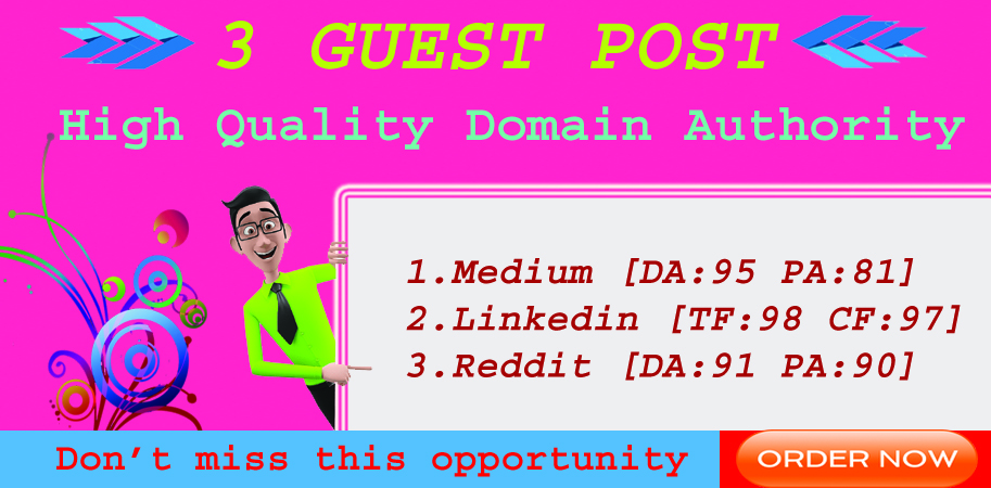 3 EDU Guest Posts On High DA/PA Sites