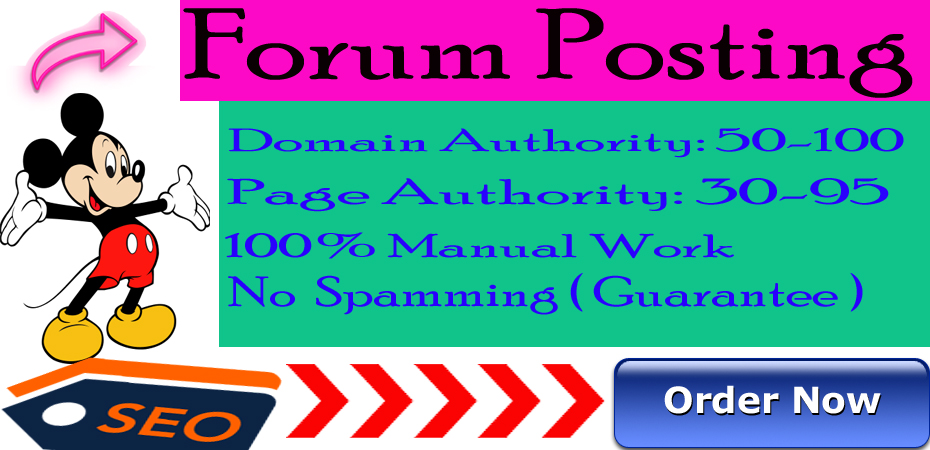 I will provide 30 Forum Posting HQ DA/PA sites