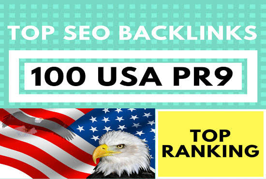 I will do 100 usa PR9 backlinks for google rank,  trusted seo service