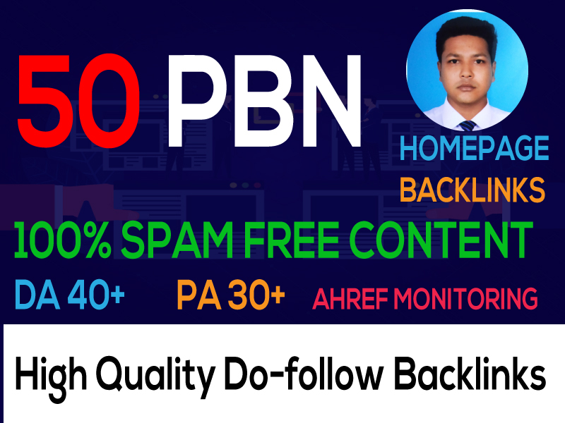 I Can Build 50 Backlink,  web 2.0,  and Do follo with high DA/PA in your webpage with a unique website