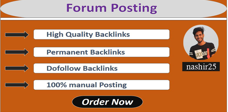 I Provide 50+ forum posting backlinks